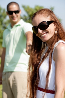 smiling couple by photostock