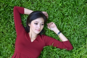 girl in garden by anankkml